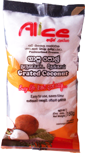 Grated fresh Coconut - Frozen 150g [ J2 ]