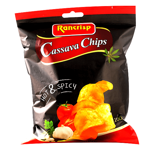 RANCRISP CASSAVA (MAIYOKKA) CHIPS- HOT & SPICY 100G