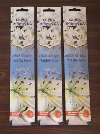 Incense Sticks - Iris Lily Scent Set of 3 Packs each 20 Sticks