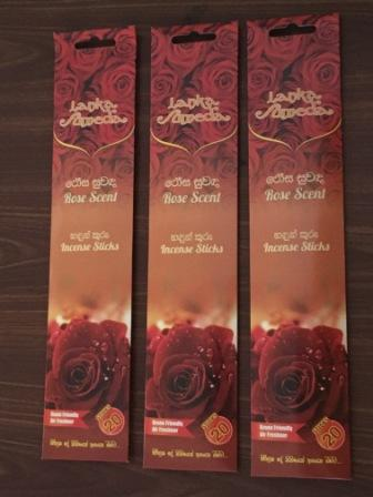 Incense Sticks Rose Scent, Set of 3 Pack each 20 Sticks