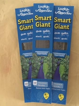Incense Sticks Smart Giant-4 Hour, Set of 3 Packs each 10 Sticks