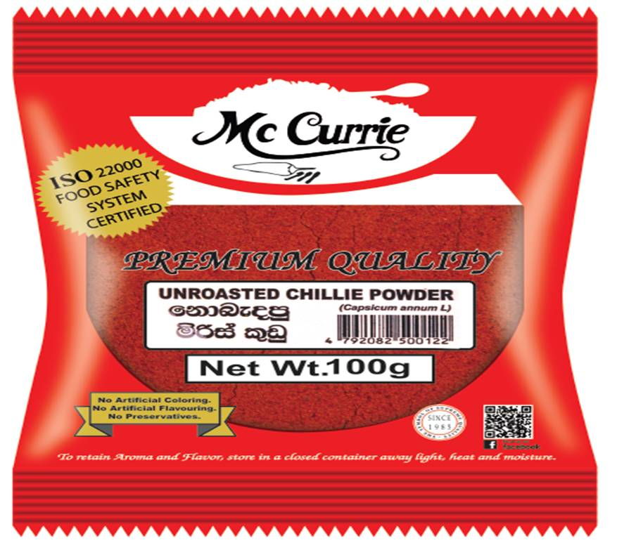McCurrie - Unroasted Chili Powder 100g
