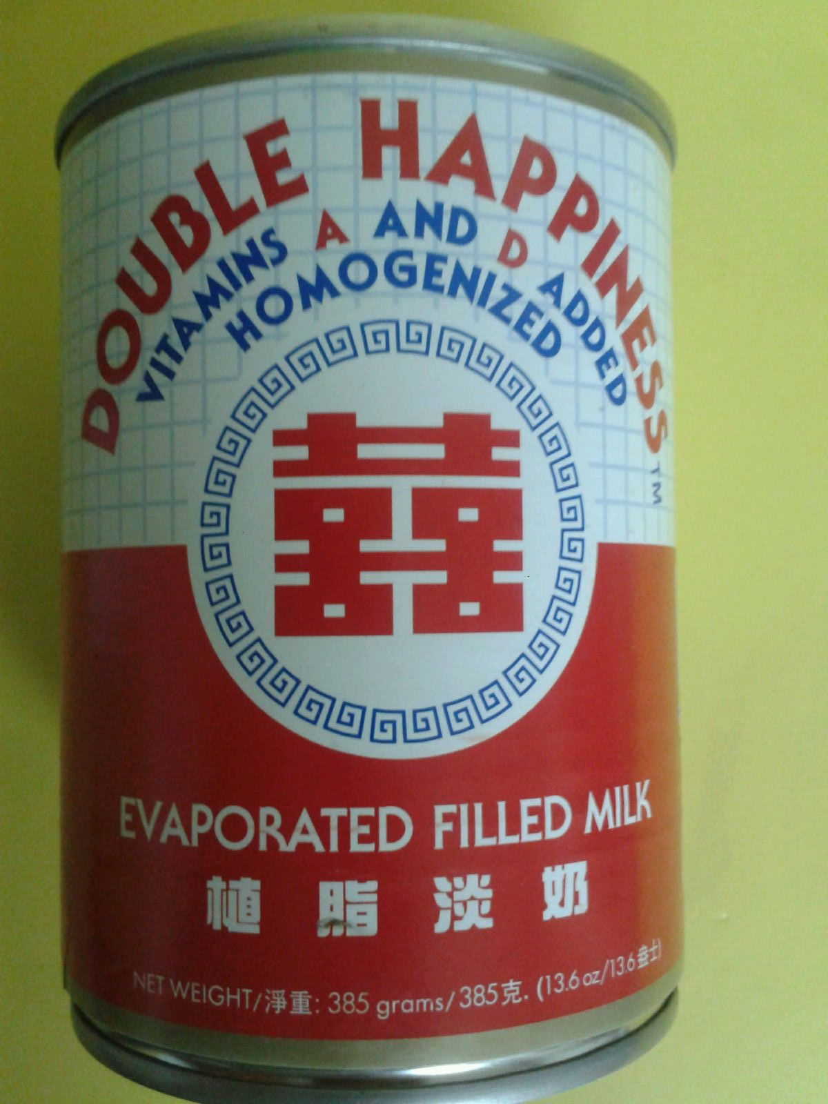 EVAPORATED MILK DOUBLE HAPPINESS - 385G-02