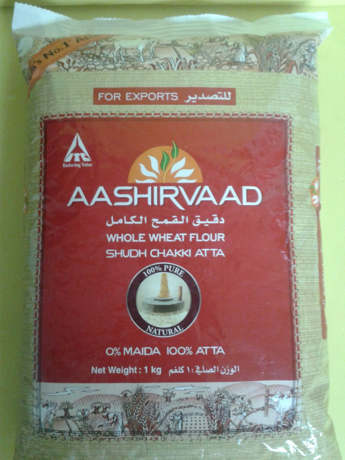 ATTA WHOLE WHEAT FLOUR SHUDH CHAKKI -1KG